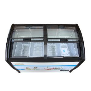 Four Toughened Coating Glass Doors Ice Cream Freezer pictures & photos