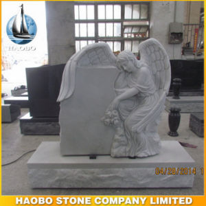 Haobo Stone Manufacturer of White Marble Angel Headstone pictures & photos