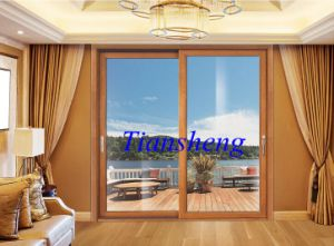 Hot Sale Commercial Aluminium Glass Sliding Door with Australian Standard and Double Glazing pictures & photos