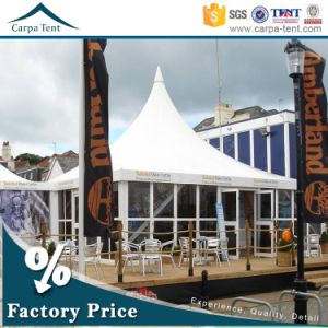 Big Event Glass Wall Pagoda Tents with 8mx8m Dimension for Sale pictures & photos