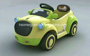 Children′s Battery-Operated Car, Plastic Press Wheel, with Music&Light, Opening Door pictures & photos