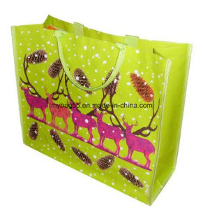 Cheap Fabric Laminated PP Woven Tote Promotion Bag pictures & photos