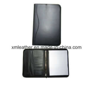 Simple Design High Quality Leather Agenda File Holder for Business pictures & photos