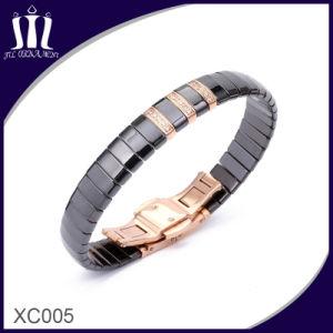 Gold Ceramic Jewelry Bracelet with Rhinestones pictures & photos