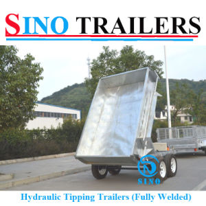 Multi-Funtion Dump Box Trailer with Cage pictures & photos