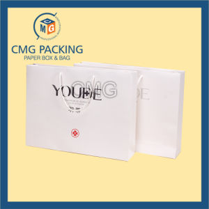 Black Printing Matt Surface White Gift Packing Bag (CMG-MAY-037) pictures & photos