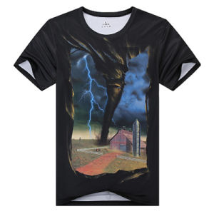 Fashion 3D Printed Polyester Men T-Shirt (ZT021) pictures & photos