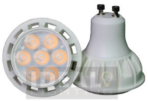 LED GU10 7X1w Spotlight White Finish, Dimmable