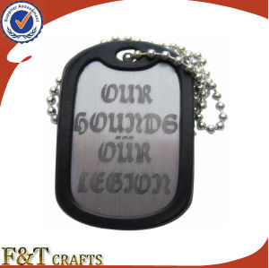 Promotional Cheap Custom Metal Dog Tag with PVC Surrounding pictures & photos