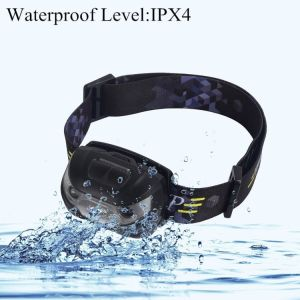 Motion Sensor Head Lamp Light Waterproof CREE LED Hands-Free USB Rechargeable Headlamp Headlight pictures & photos