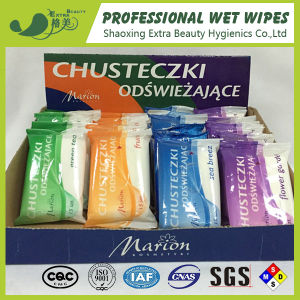 15PCS Nonwoven Wet Wipes in Display Box Promotion Wet Wipes pictures & photos