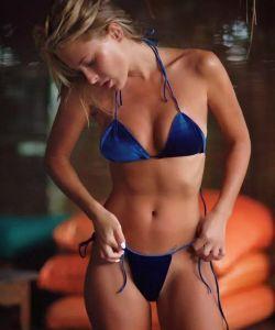 2018 Hot Ladies Velvet Bikini MB124 pictures & photos