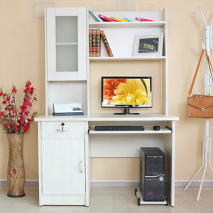 High Quality Modern Home Furniture Wooden White Computer Desk (FS-CD035) pictures & photos