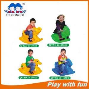 Friendly Plastic HDPE Material Amusement Rides Kids Indoor Seesaw Seat pictures & photos