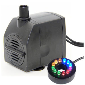 AC 12V Submersible Water Fountain Pump with LED Lights