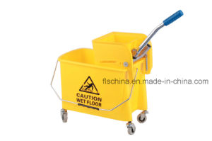 Wholesale 20L Plastic Squeeze Mop Bucket with Wheels pictures & photos