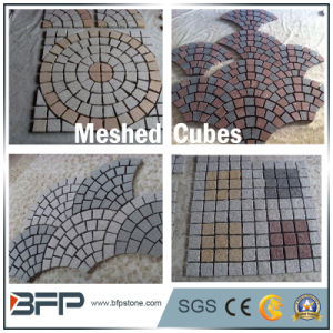 Cheap Grey Granite Stone Meshed Cubes for Outdoor Flooring&Driveway pictures & photos