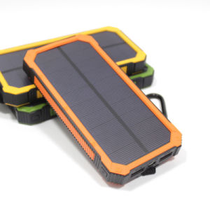 Solar Battery Charger, Hallomall 15000mAh Portable Phone Charger with 6LED Flashlight, Dual USB Port External Battery Charger Solar Power Bank for Smart Phones pictures & photos