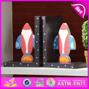 2015 New Wooden Plane Bookend, Hot Sale Bookend Wooden, Lovely Wooden Airplane Bookend W08d045 pictures & photos