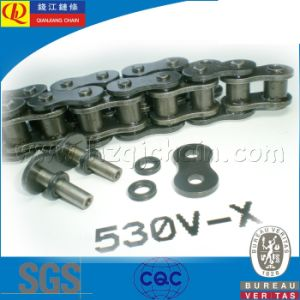 530V-X High Quality X-Ring Motorcycle Chain with Black Plates pictures & photos