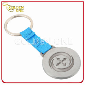Customized Full Color Printing Square Shaped Nickel Plated Metal Keyring pictures & photos