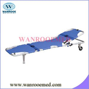 Ea-1A1 Aluminum Alloy High-Quality Two Fold Emergency Folding Stretcher with Wheels pictures & photos