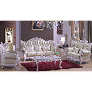 Living Room Sofa with Wooden Sofa Chair (503C) pictures & photos