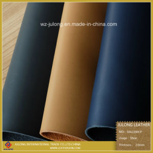 Brush PU Shoe Leather (S062) pictures & photos