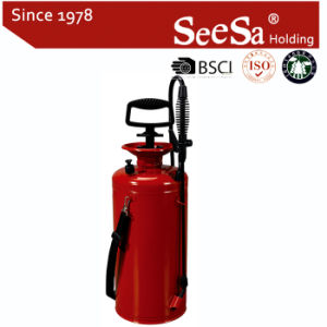 9L Metal Iron Bottle Pressure Hand Compression Manual Shoulder Sprayer (SX-CS20009) pictures & photos