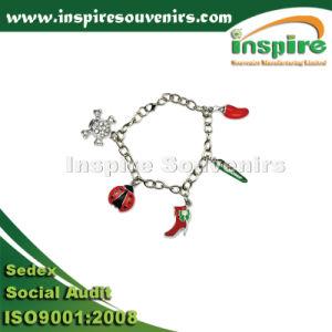 Lovely Ladybird Shoe Skull Sliver Bracelet for Gift pictures & photos