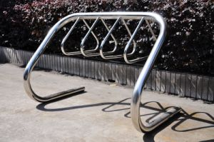 Multi Parking Outdoor Stainless Steel Bike Rack (ISO/ CE/ SGS Approved) pictures & photos