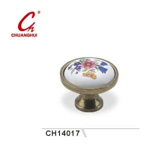 Ceramic Knob Handles with Beautiful Flowers (CH14017) pictures & photos