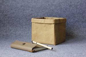 Washable Paper Bag Handbag Simple Style Reusable Kraft Grocery Bag pictures & photos