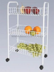 3 Tiers Wire Steel Kitchen Storage Rack with Painting Sr-Bp001 pictures & photos