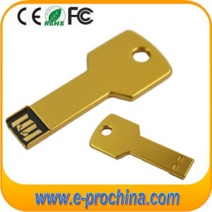 Golden Color Mini Key Shape USB Flash Pendrive pictures & photos