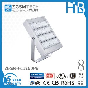 160W IP66 UL Dlc Ce RoHS Certificated LED Floodlight with 5 Years Warranty pictures & photos