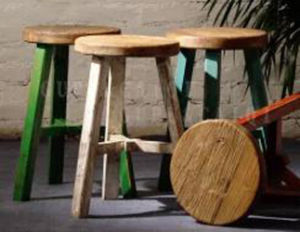 Chinese Antique Reproduction Elm Wood Stool pictures & photos