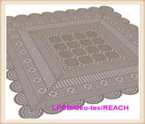 PVC/ Vinyl Lace Crochet Tablecloth pictures & photos