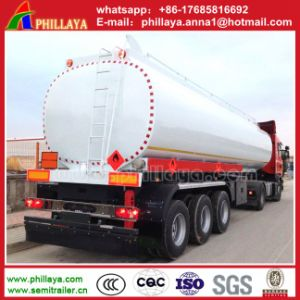 3 Axle 45cbm Carbon Steel Oil Tank/Fuel Tank Semi Trailer with Low Price Sale pictures & photos