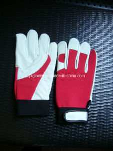 Cow Grain Leather Glove-Work Glove-Safety Glove-Mechanic Glove pictures & photos
