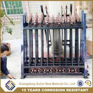 Powder Coated 2016 Hot Sale Garden Wrought Iron Cheap Yard Fencing pictures & photos