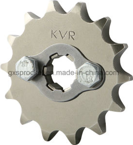 Motorcycle Sprocket Front for Honda Wh100/Wh125-6/Wy125-S/Wh125-13 pictures & photos