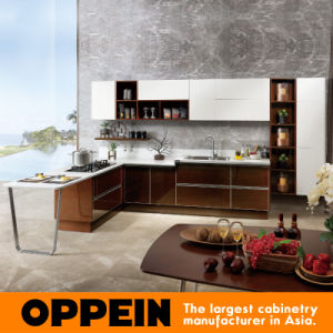 Wholesale High Quality Laminate Wooden Kitchen Cabinets (OP15-024) pictures & photos