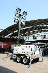 H1000 Series with 15kVA Ynd485 Mobile Light Tower Generator Set/Diesel Generator pictures & photos