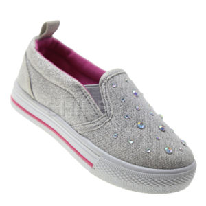 Jewel Front Slip-on Injection Shoes for Girls