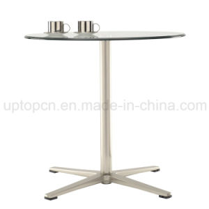 Wholesale Leisure Metal Glass Club Cafe Dining Room Table (SP-GT101) pictures & photos