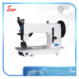 Xs0071 Double Needle Mocca Leather Shoe Industrial Sewing Machine pictures & photos