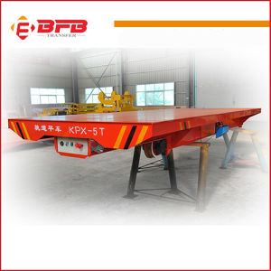 Railway Flat Wagon on Turntable for Heavy Equipment Transportation pictures & photos