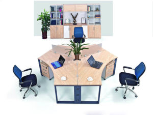 Wooden Furniture 120 Degree Office Workstation Curved Cubicle (HF-E549) pictures & photos