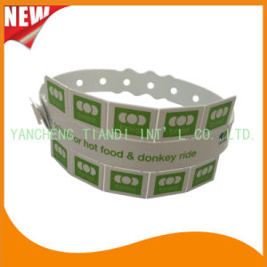 Entertainment 10 Tab Vinyl Plastic Wristbands ID Bracelet (E6070-10-8) pictures & photos